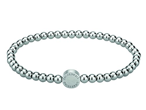 Liebeskind Berlin Damen-Armband Edelstahl mattiert Silber 17 cm