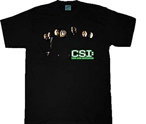 Click for larger image of CSI Crime Scene Investigation Shadow Cast Black T-shirt Tee - L