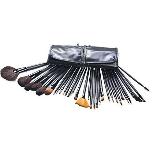 Contever 32 Stück Schmink Kosmetik Stiftung Makeup Tool Set Gesichtspinsel, Lidschattenpinsel, Puderpinsel, Augen Bürsten Set- Style 5