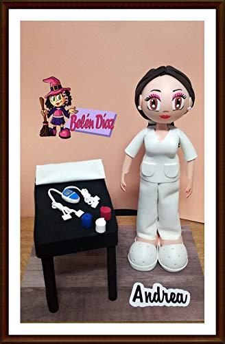 Fofucha Fisioterapeuta muñeca artesanal personalizada 35 cms