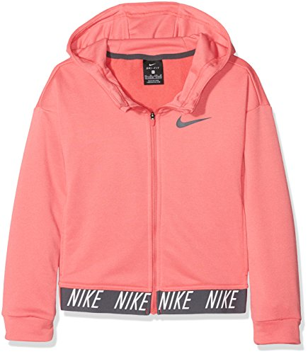 d53a6f301ed7c Nike G NK Dry Hoodie FZ Core Studio Sudadera, Niñas, Rosa (Sea Coral