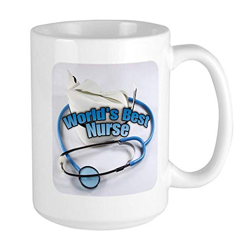 SHALLY Worlds Best Nurse Funny Coffee Mug Cool Coffee Tea Cup 11 Ounces Large Mug Coffee Drink Cup for Family and Friend - Beste Maker Iced Tea
