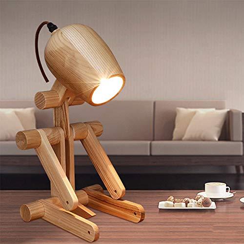 shuhong Schreibtischlampe Faltbare Einfache Welpen-Tischlampe Nordisches Schlafzimmer Nachtlicht Nachtlicht Dekoration Geschenk