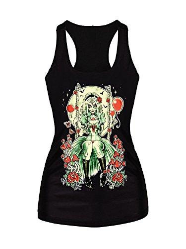 Molly Donne 3D Grafico Stampato Serbatoio Tops Camicette Gilet T Shirt FreeSize BX101