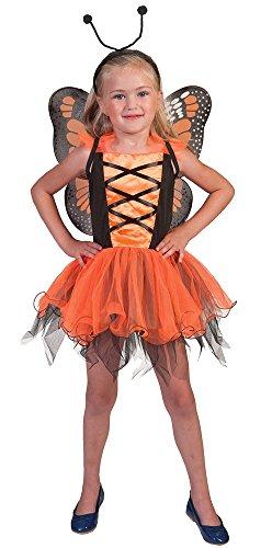 Pierro´s Kostüm Schmetterlingskind orange Märchen Mädchenkostüm Größe 140