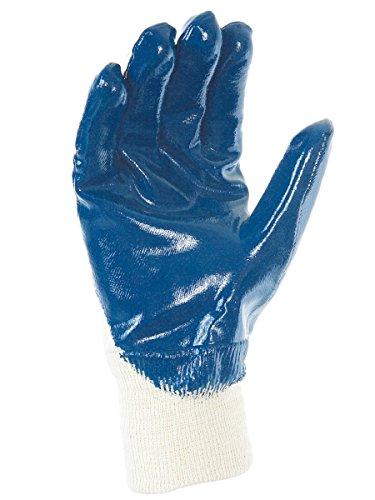 Singer Paire de gants nitrile (3/4). Enduction lourde. Support coton cousu. Poignet tricot NBR32610