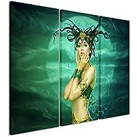 Lienzo 3piezas Fantasy _ Dream _ Girl _ 3x 90x 40cm (total 120x 90cm) _ Acabado impresión artística Schöner auténtica Lienzo como Cuadro En Bastidor