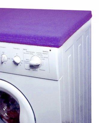 Matex Revêtement de protection en tissu éponge pour dessus de machine à laver 50 x 60 cm violet