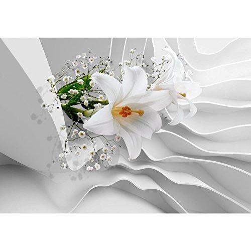 Fototapete Blumen 3D Lilien Weiß 396 X 280 Cm Vlies Wand Tapete Wohnzimmer  Schlafzimmer Büro Flur Dekoration Wandbilder XXL Moderne Wanddeko Flower ...