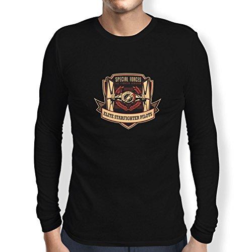 TEXLAB - Elite Starfighter Pilots - Herren Langarm T-Shirt Schwarz