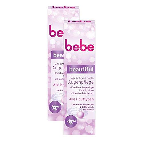 bebe beautiful Verschönernde Augenpflege / Kaschierende Augencreme ohne Parfüm - für alle Hauttypen / 2 x 15ml