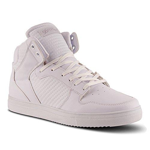 FiveSix Herren Sportschuhe High Top Sneaker Basketballschuhe Freizeitschuhe Schuhe Weiss EU 44 (Puma-high-tops Herren-schuhe)