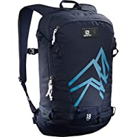 Salomon L40375400 Zaino Leggero da Sci 18 l Side 18, Blu (Medieval Blue/Hawaiian Surf)