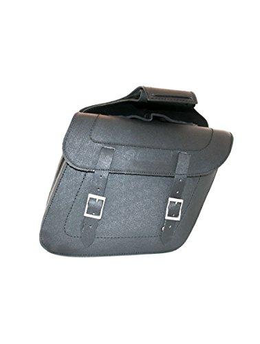 Borse laterali in pelle Stiff doppio. colore nero. senza appoggi. Modello x 2-KR-AB18. Colore nero. Taglia M.