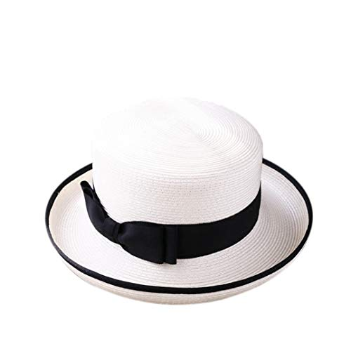 Frauen Fascinator Fashion Wild hat Frau Sommer British and Straw Hat Sun Hüte (Shower Bridal Kentucky Derby)