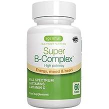 Igennus Super B-Complex - Complejo de vitaminas B metiladas con folato, Vegano,