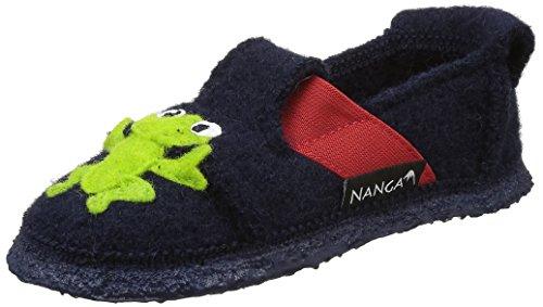 Nanga Jungen Funny Frog Flache Hausschuhe Blau (dunkelblau / 32)