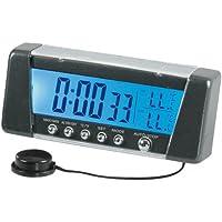 Pilot LA_86322 - Termómetro y reloj digital para coche (pantalla con 7 colores),
