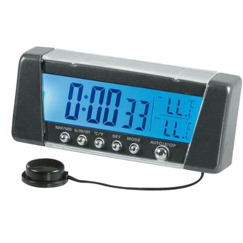 Pilot LA_86322 Thermometer und Uhr Digital, 7-farbig