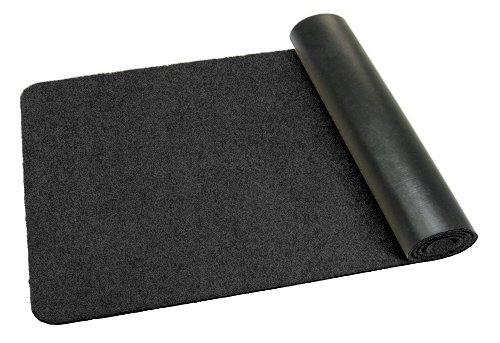 Preisvergleich Produktbild Fußmatte / Dekomatte / Schmutzfangmatte,  länglich,  40 x 140 cm,  schwarz,  Höhe 8 mm,  waschbar,  rutschfest,  Sauberlaufmatte , Teppich,  Läufer,  Türmatte in 14 Größen und 11 Farben möglich