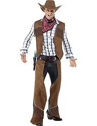 Cowboykostüm Kostüm Cowboy für Herren mit Hut Herrenkostüm Chaps Gr M