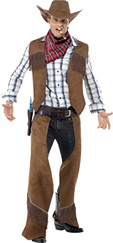 SMIFFYS Fringe Costume da Cowboy Man Fancy Dress