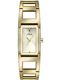 s.Oliver Damen-Armbanduhr XS Analog Quarz Edelstahl SO-2841-MQ