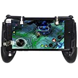Black Mobile phone gamepad Game Trigger Fire Button and Controller Shooter For PUBG