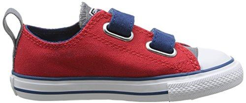 Converse - Chuck Taylor All Star 2v Ox, Scarpe da ginnastica Unisex – Bambini Red (Rouge/Gris/Marine)