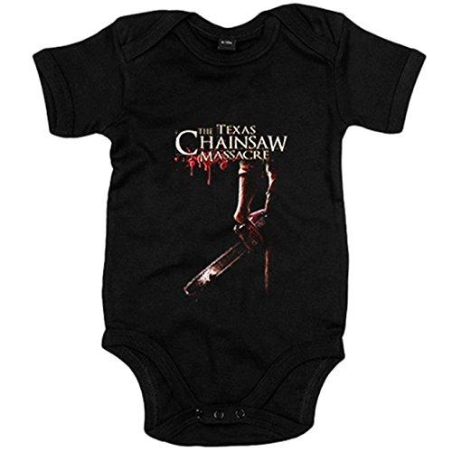 Body bebé La Matanza de Texas póster película - Negro, 12-18 meses
