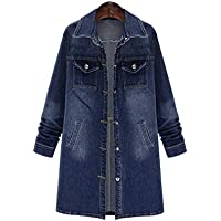 Hanomes Damen pullover, Mode Frauen Plus Size Langarmshirts Denim Outcoat Taschen Jean Outwear preisvergleich bei billige-tabletten.eu