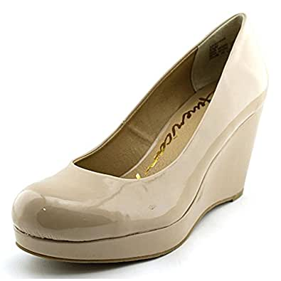 American Rag Kenna Women US 6 Nude Wedge Heel