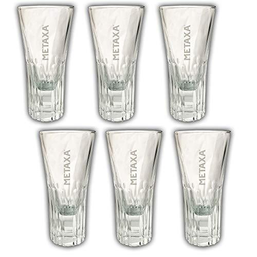 6X METAXA Exclusiv - Gläser/Glas Weinbrand Brandy Schnapsglas Spirituose 10cl 100ml