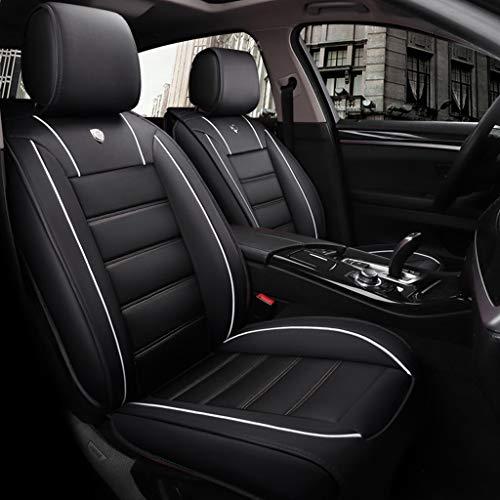 Lgan Autositzbezug, vorderer und hinterer 5-Sitzer-Komplettsatz, Universal-Leder, Vier Jahreszeiten, kompatibel mit Airbag-Sitzprotektoren, wasserdicht. (Farbe : Black White) - Einen Auto-sitzbezug Für Camry