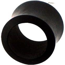 CHIC Net madera de hierro túnel madera negro talladas a mano tribal Madera Plug túnel Pendientes Expander Talla:08 mm