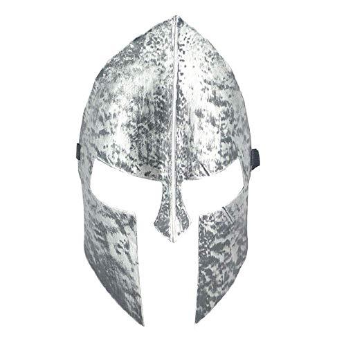 YaPin Halloween Untoten Maske Einfache Spartan 300 Krieger Maske Horror Vollgesichtsmaske Samurai Maske (Color : Silver)