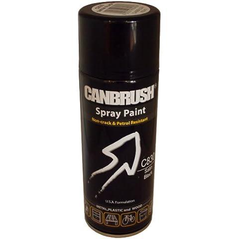 Nero satinato Canbrush Auto Diy-Vernice Spray multiuso, contenitore di Aerosol C830 colore