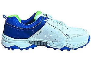 SG Club 3.0 Cricket Shoes Size 8 UK (White/Royal Blue/Aqua)