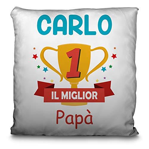 Lolapix cuscino per papà personalizzato con il tuo nome o testo. vari disegni e dimensioni. festa del papà regalo originale ed esclusivo. coppa papà