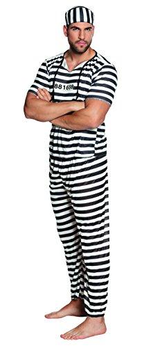 hsenenkostüm Gefangener, schwarz (Gefangene Shirt Erwachsene Kostüme)