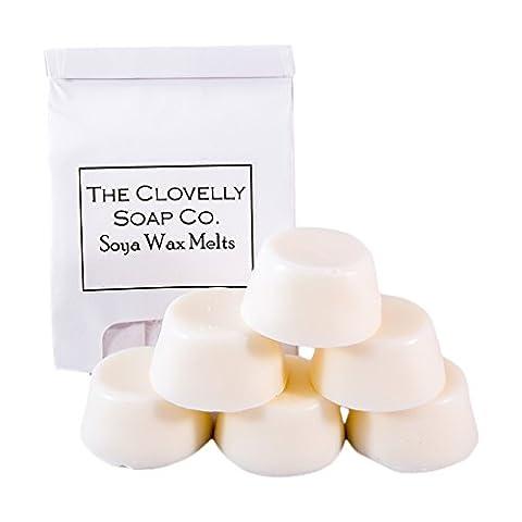 Clovelly Candle Co. Natürliches Handgefertigtes Duftendes Soja-Schmelzwachs Zimt & Orange 6-er Pack