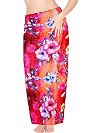 a20db2668484e HAPPY BAY Women Likre Long Hawaiian Sarong Bikini Wrap Pareo Stylish  Beachwear