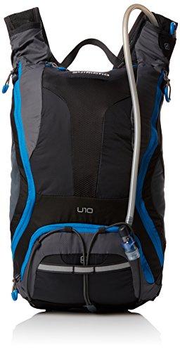 Shimano Rucksack Unzen II, Schwarz/Lightning Blau, 11 x 41 x 24 cm, 10 Liter, EBGDPMAN310U50 - 10 Unzen Flüssigkeit