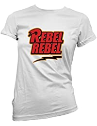 "Camiseta Mujer David Bowie - ""Rebel Rebel"" - camiseta 100% algodon LaMAGLIERIA"