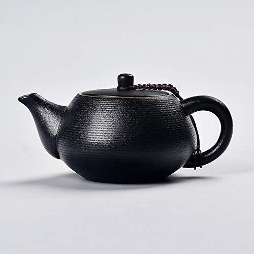Teekanne mit Sieb Teekanne Keramik Tee-Set Teekanne Filter Schwarz Zen Style Steinzeug Single Pot @a - Zen-wasser-filter