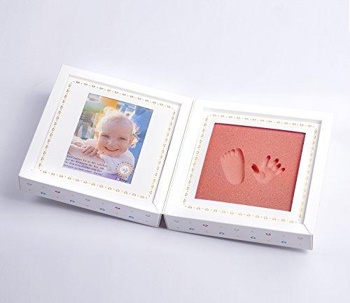 Einfach Füße Fuß (Baby's 1st Step /// BABYFOOTPRINT KIT /// Klapp-Box gefüllt mit orthopädischem Trittschaum + 1 Fenster für Foto /// Hand- und Fuß-Abdruckset /// einfach, trocken und sauber in der Anwendung)