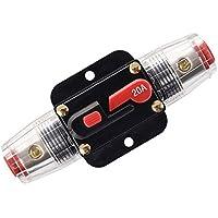 Cortacircuitos de RKURCK, para protección del sistema de audio del coche, 12‑24V CC, 20A, 30A, 40A, 50A, 60A, 80A, 100A, 150A