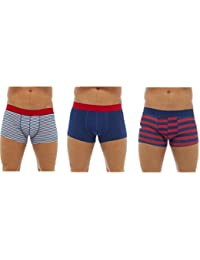 unbranded Mens Boxer Shorts Trunks Underwear Cotton Brief A Front 3 Pack
