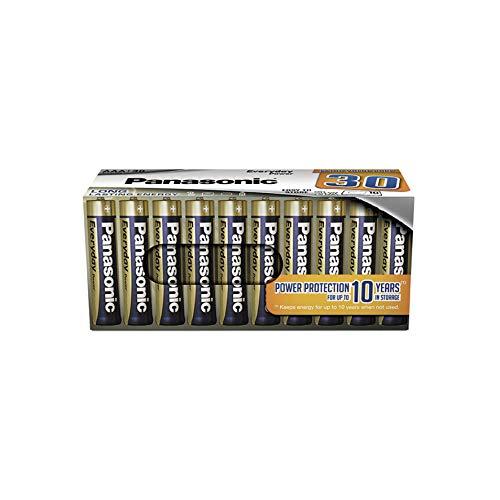 Oferta de Panasonic EVERYDAY POWER Pila alcalina AAA Micro LR03, Para una energía fiable, Paquete sin plástico con 30 unidades