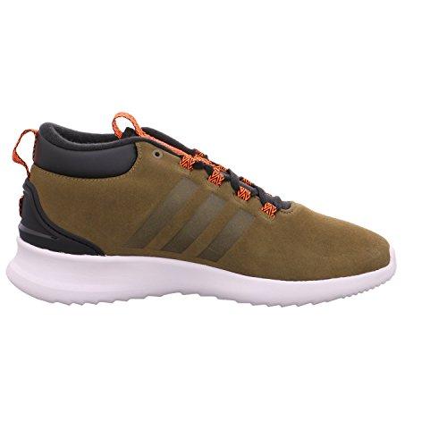 Scarpe Da Ginnastica Adidas Mens Cf Racer Mid Wtr, Nero Verde (olitra / Olitra / Narsol)
